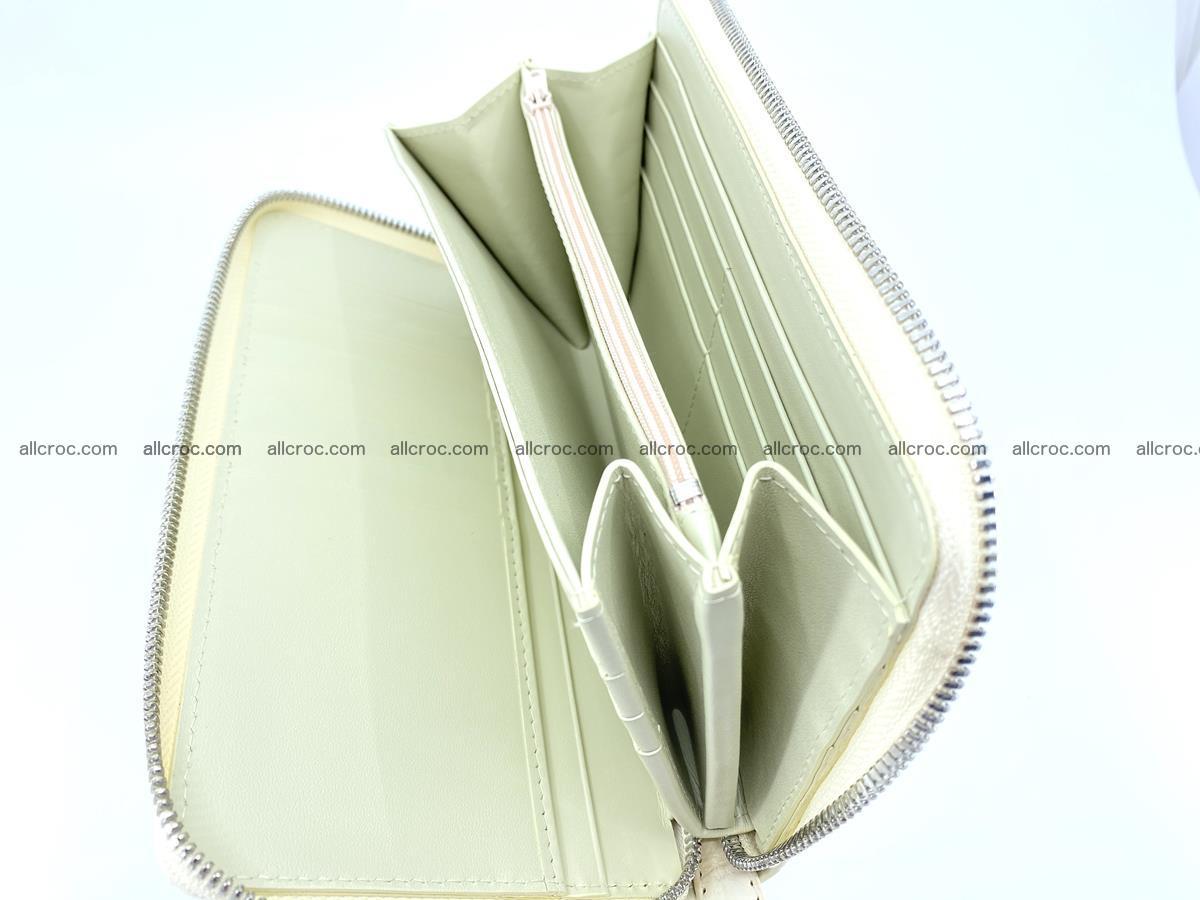 Crocodile skin zip wallet L-size 537 Foto 12