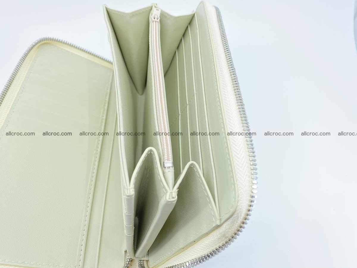 Crocodile skin zip wallet L-size 537 Foto 14