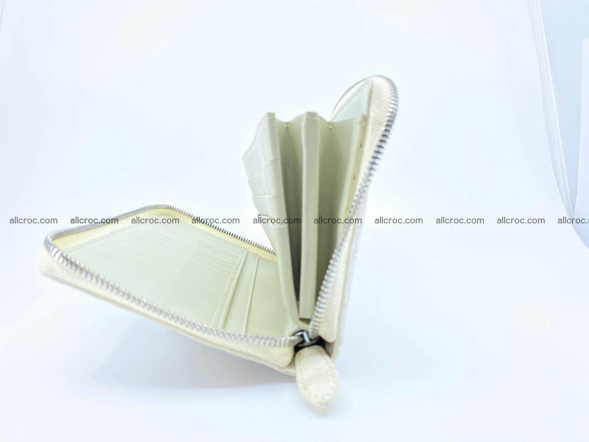 Crocodile skin zip wallet L-size 537 Foto 9