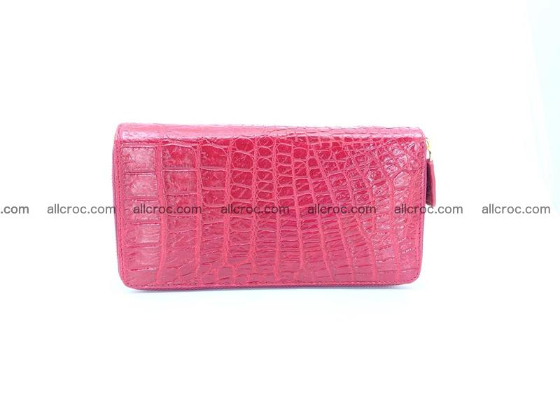 Crocodile leather wallet 2 zips 1007