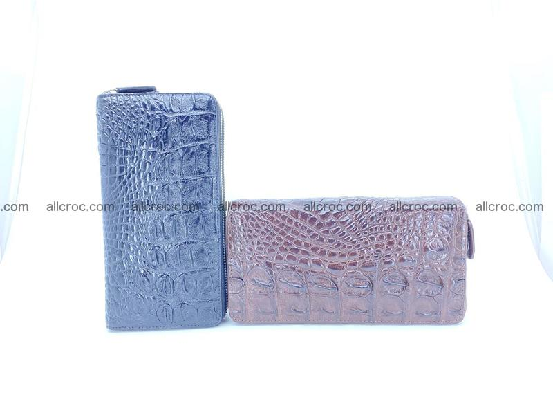 Crocodile leather wallet 2 zips 527