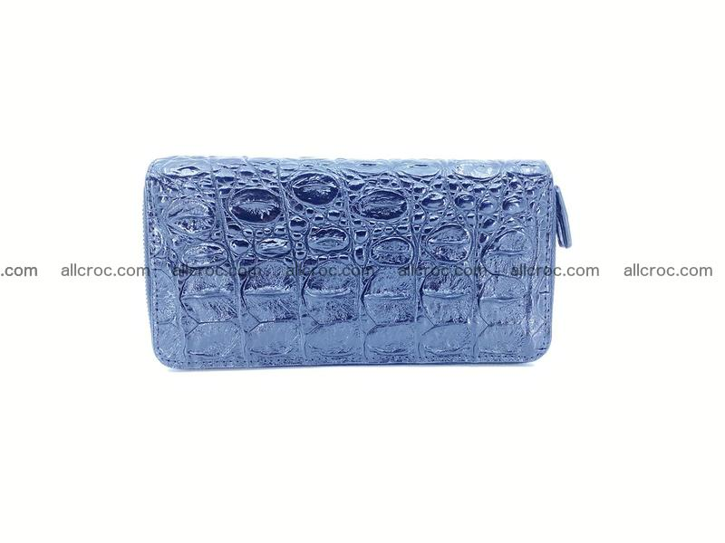 Crocodile leather wallet 2 zips 524
