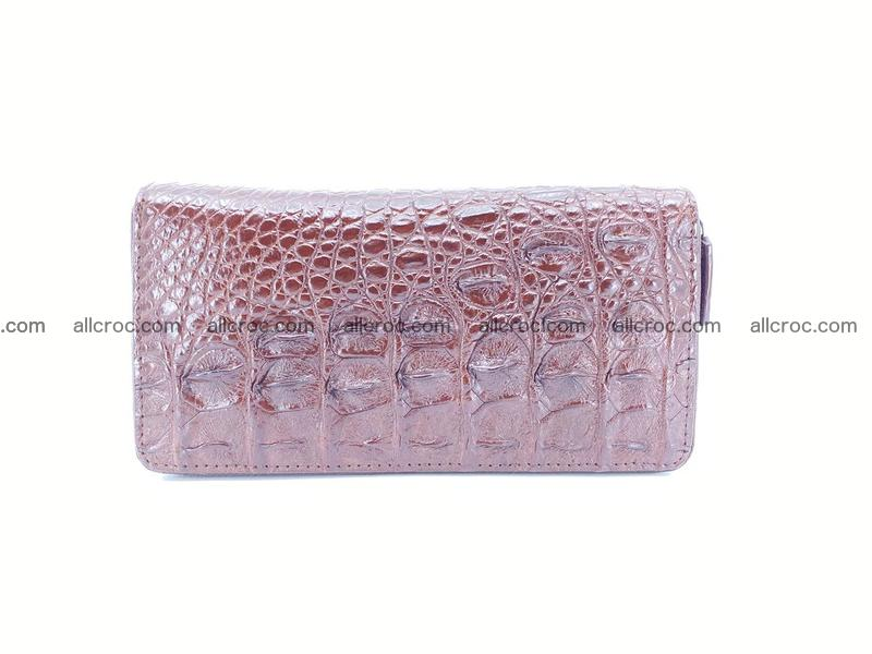 Crocodile leather wallet 2 zips 526