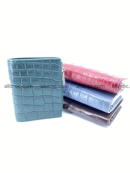 Crocodile skin vertical wallet HK 1052
