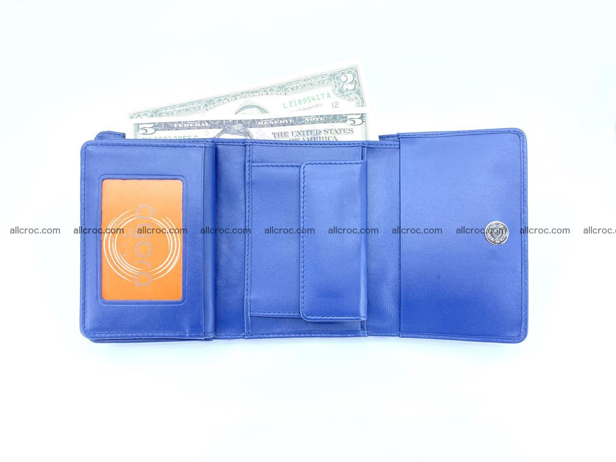 Crocodile leather wallet for women 956 Foto 11