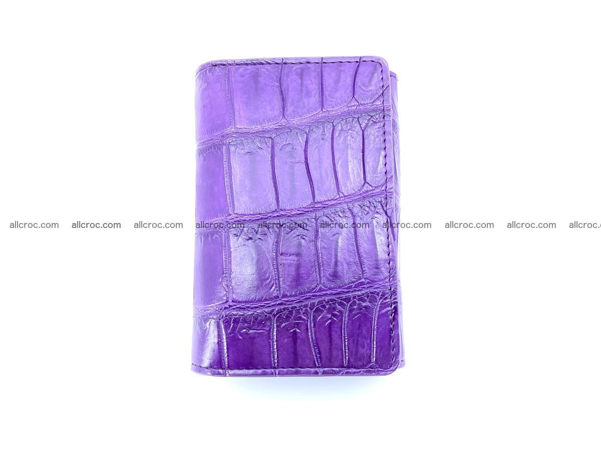 Crocodile leather wallet for women 545 Foto 2