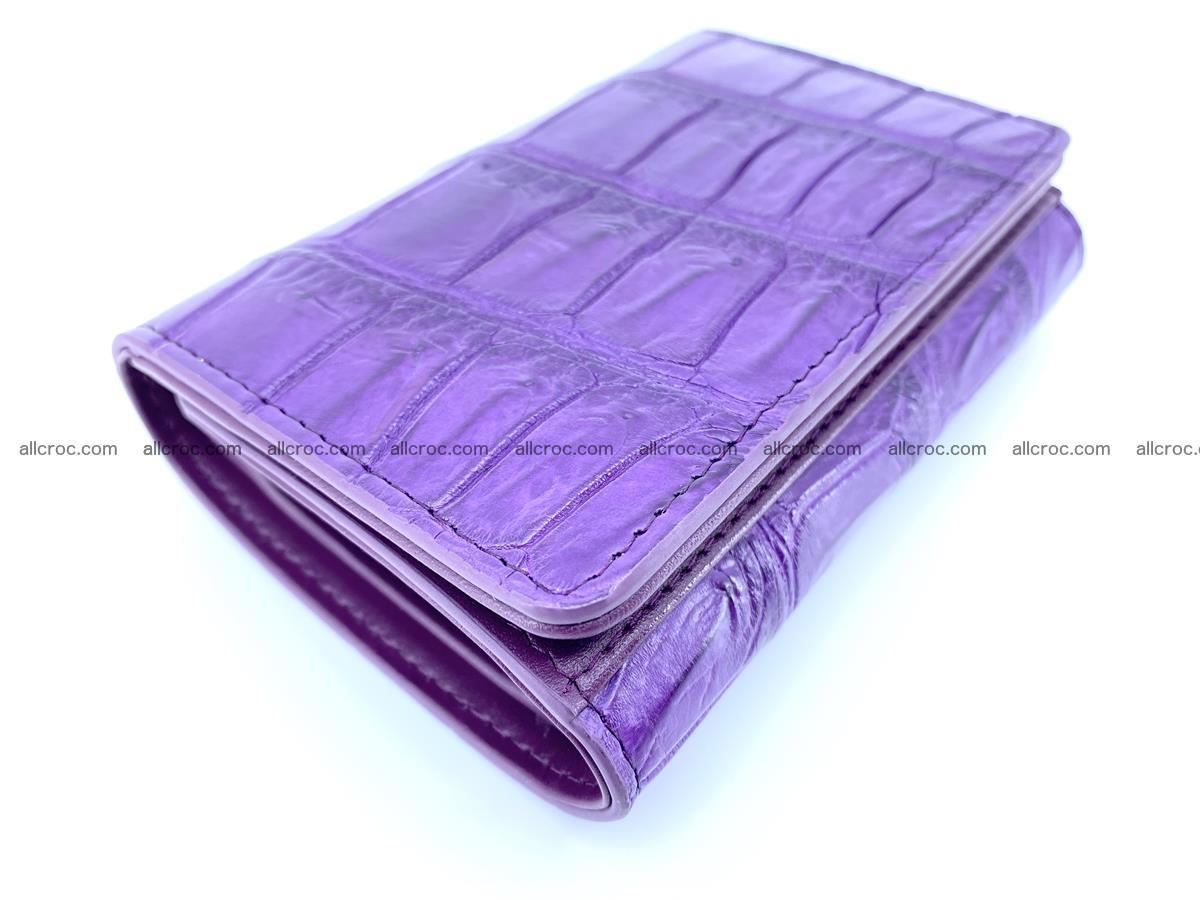 Crocodile leather wallet for women 545 Foto 4