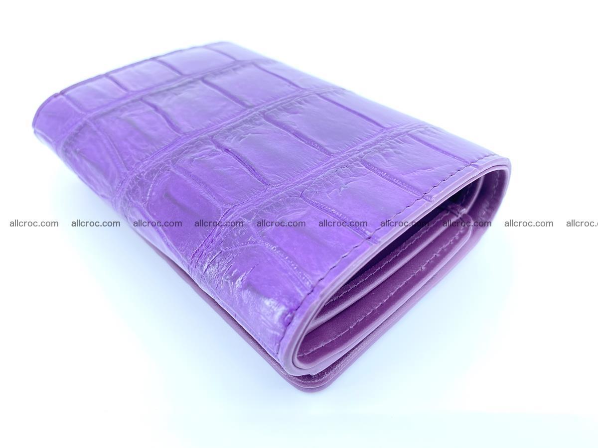 Crocodile leather wallet for women 545 Foto 5