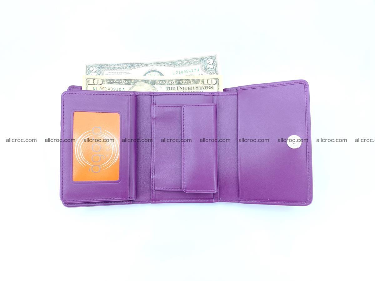Crocodile leather wallet for women 545 Foto 9