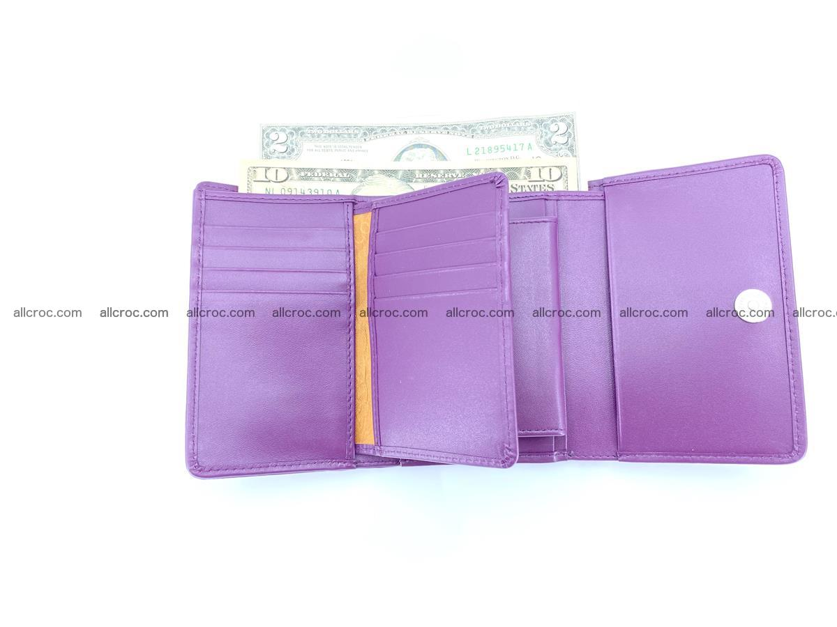 Crocodile leather wallet for women 546 Foto 9