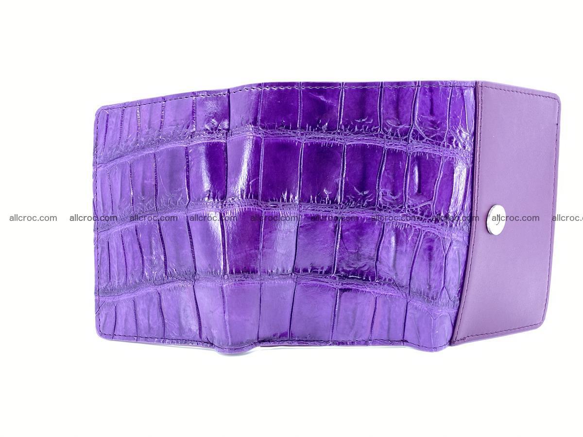 Crocodile leather wallet for women 545 Foto 6