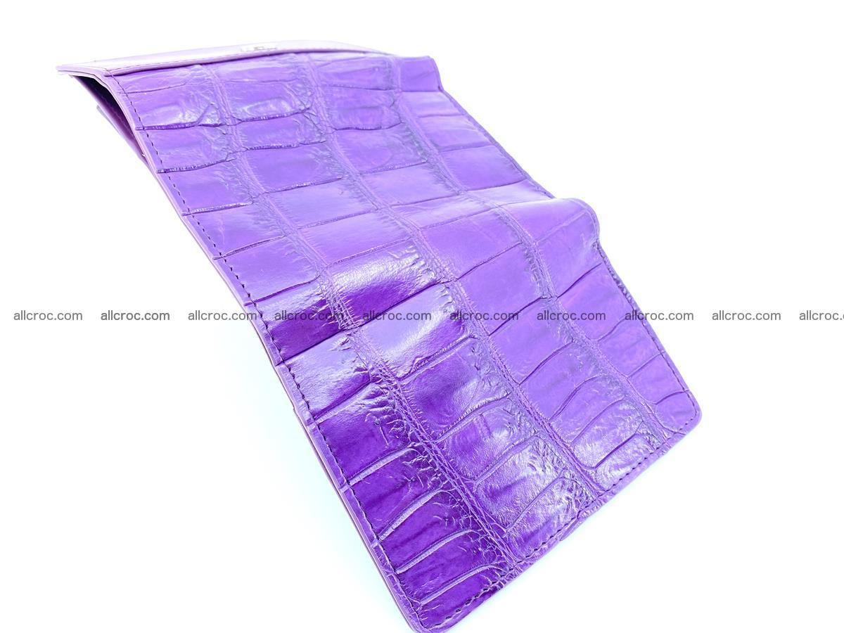 Crocodile leather wallet for women 545 Foto 8