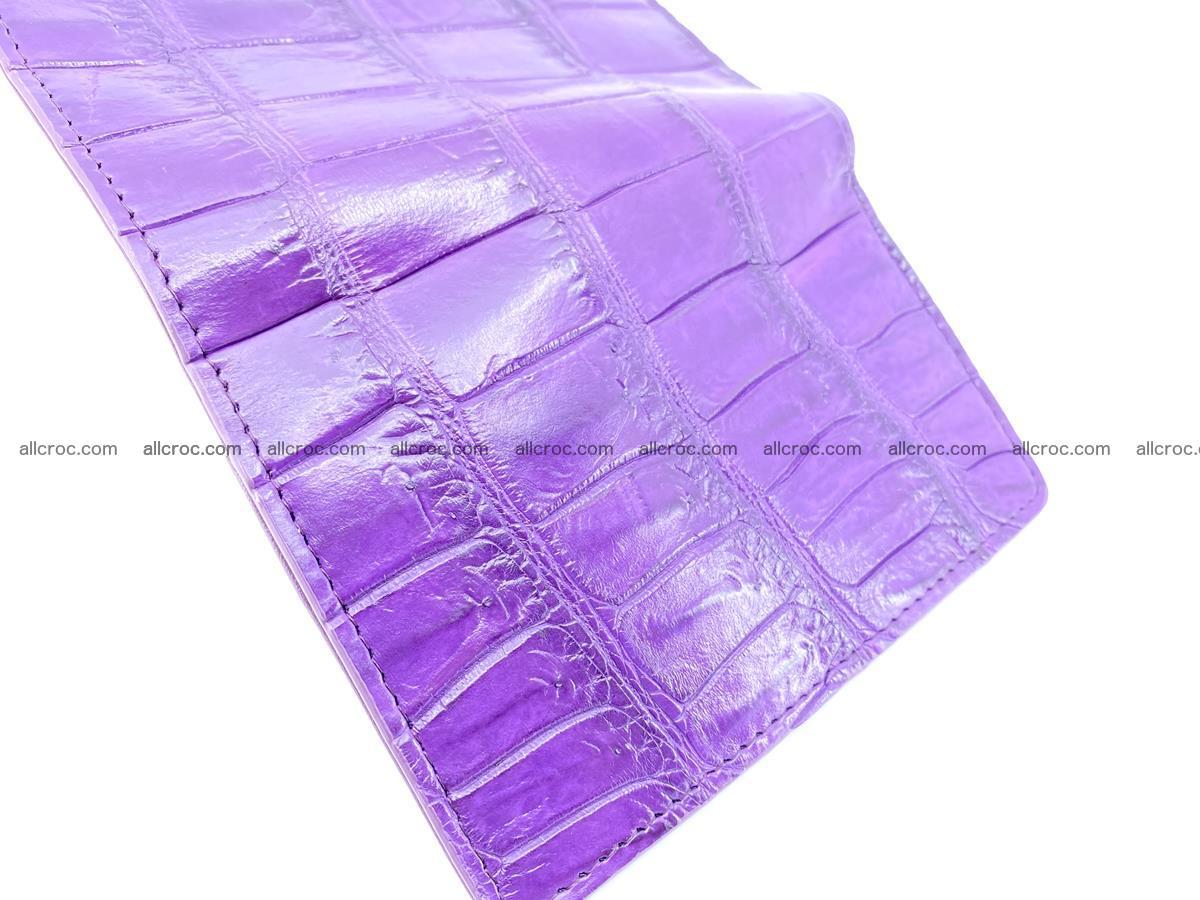Crocodile leather wallet for women 545 Foto 7