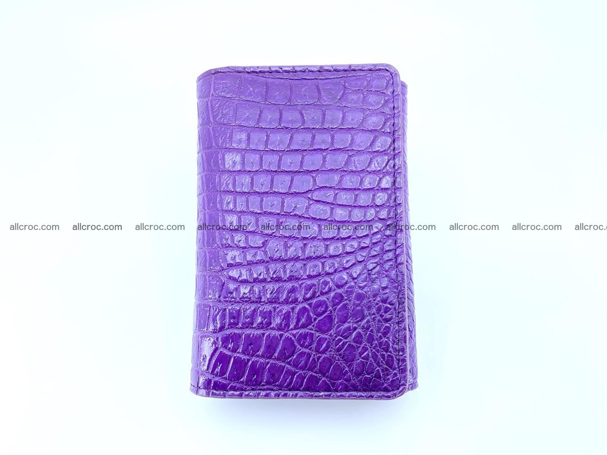 Crocodile leather wallet for women 546 Foto 2