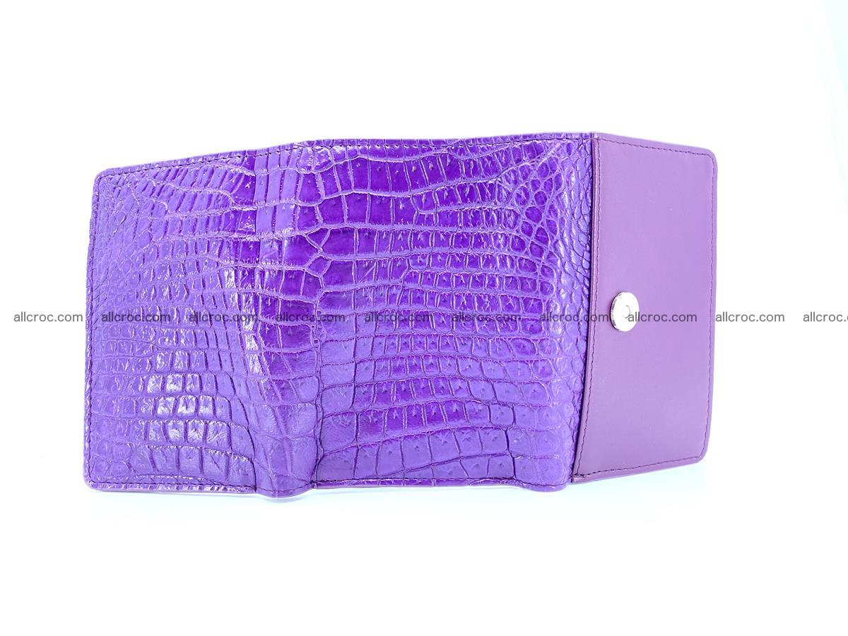 Crocodile leather wallet for women 546 Foto 6