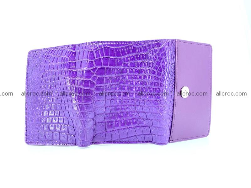 Crocodile leather wallet for women 546