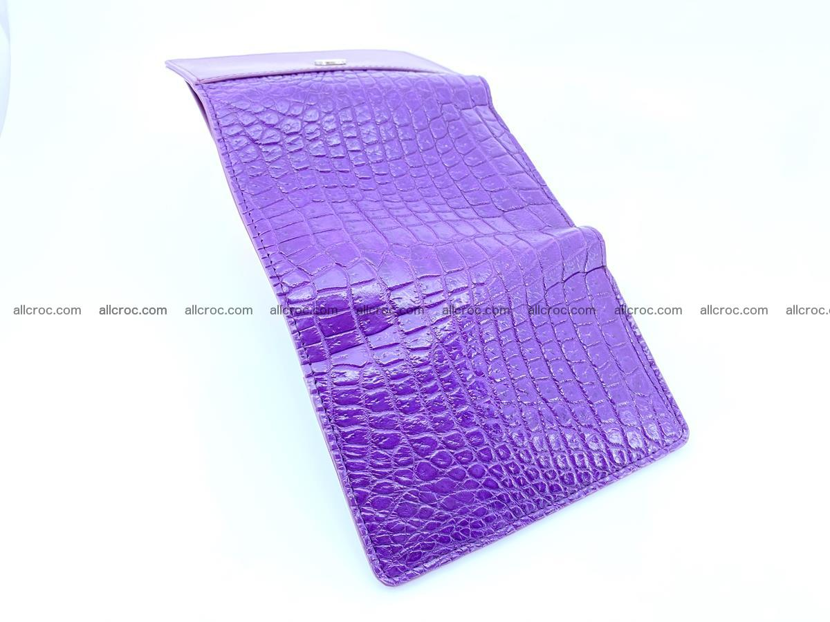Crocodile leather wallet for women 546 Foto 8