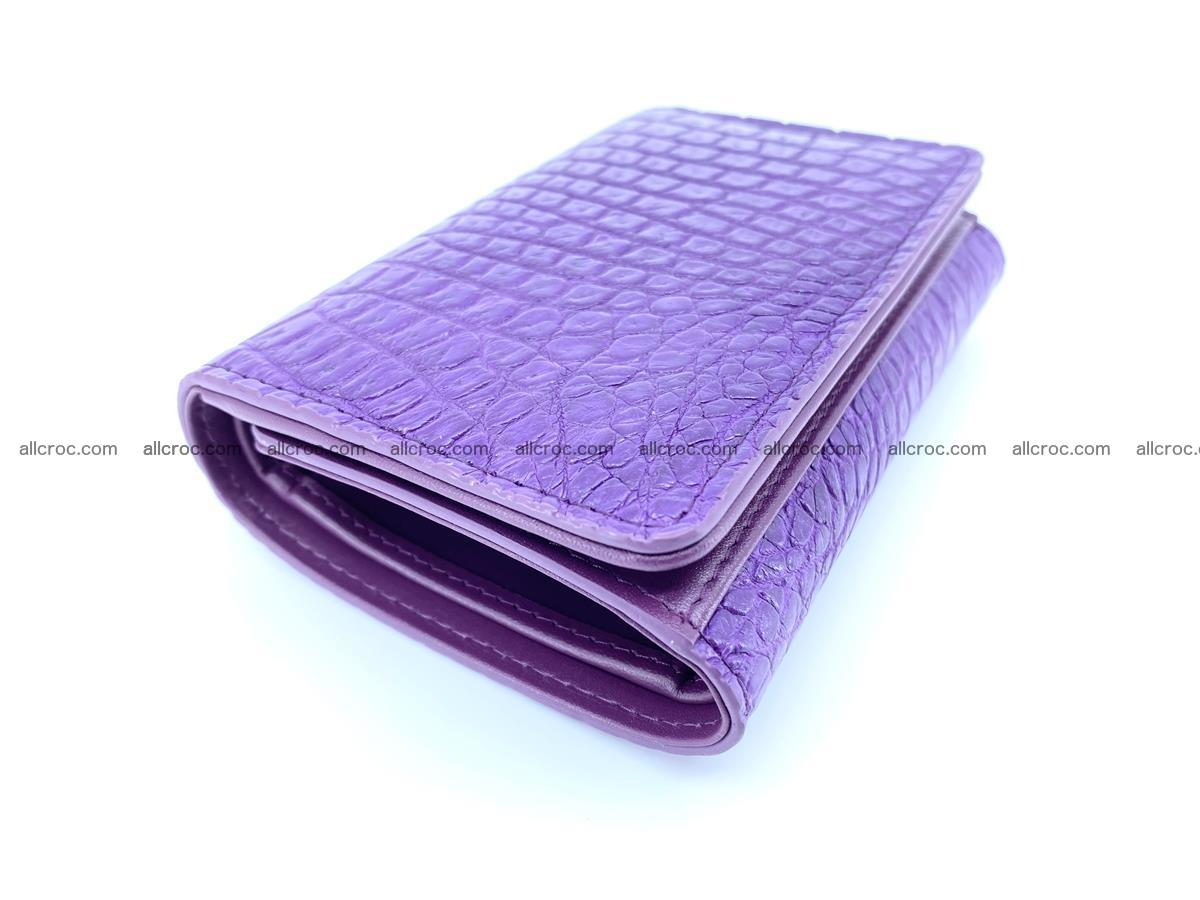 Crocodile leather wallet for women 546 Foto 4
