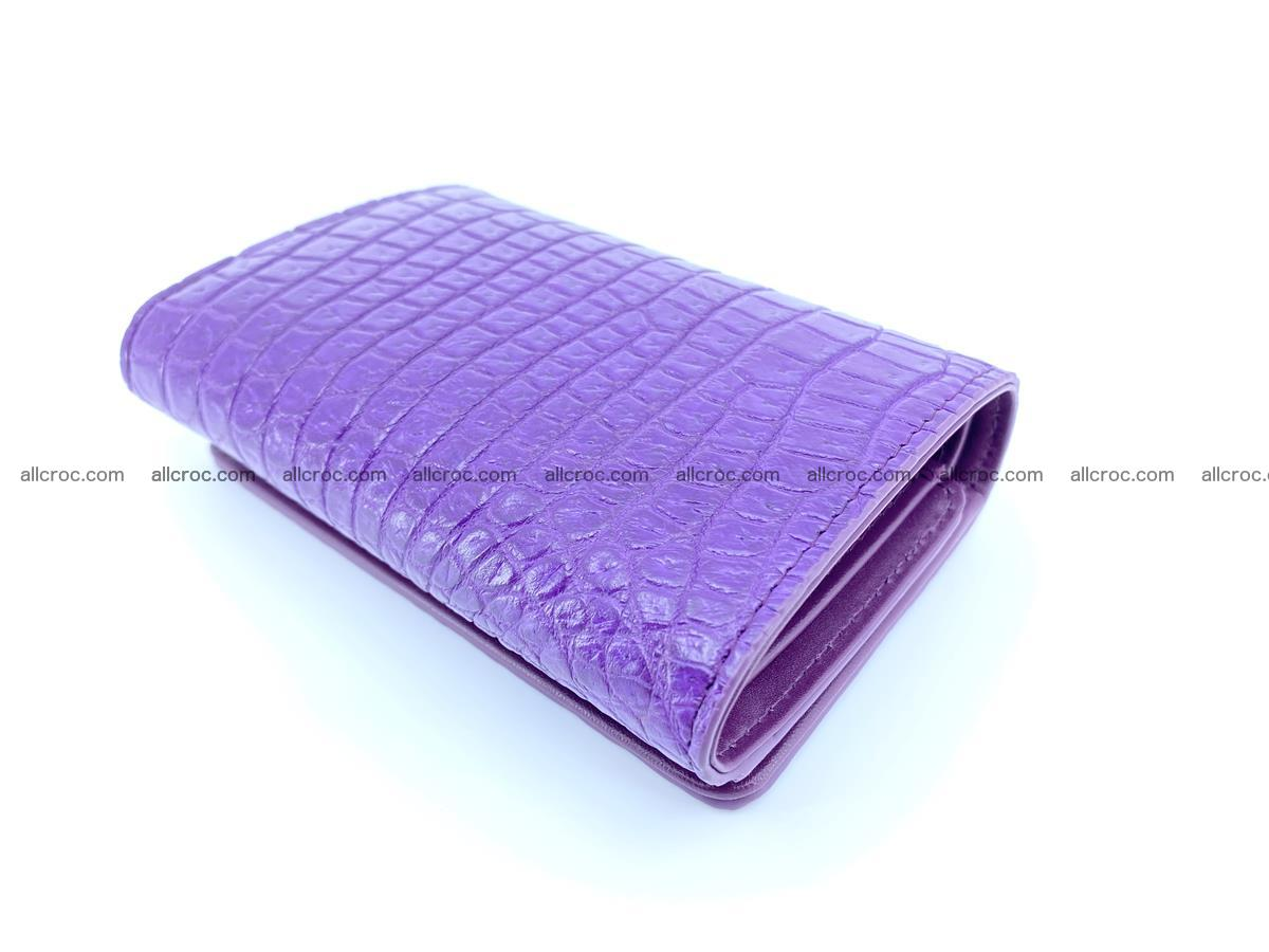 Crocodile leather wallet for women 546 Foto 5