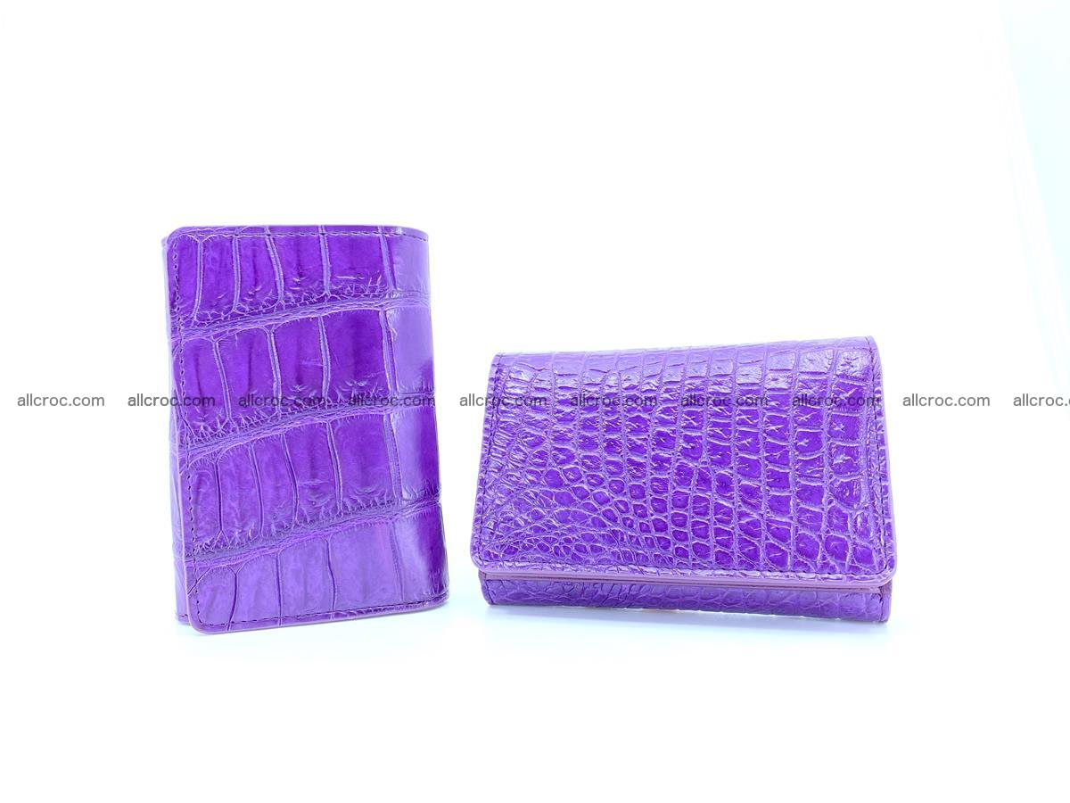 Crocodile leather wallet for women 545 Foto 11