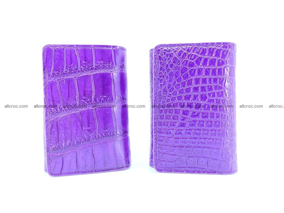Crocodile leather wallet for women 545 Foto 12