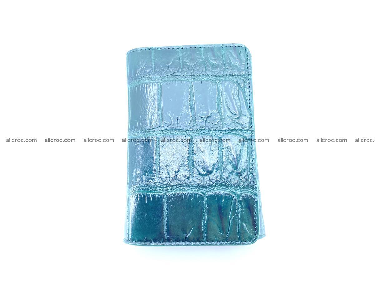 Crocodile leather wallet for women 954 Foto 5