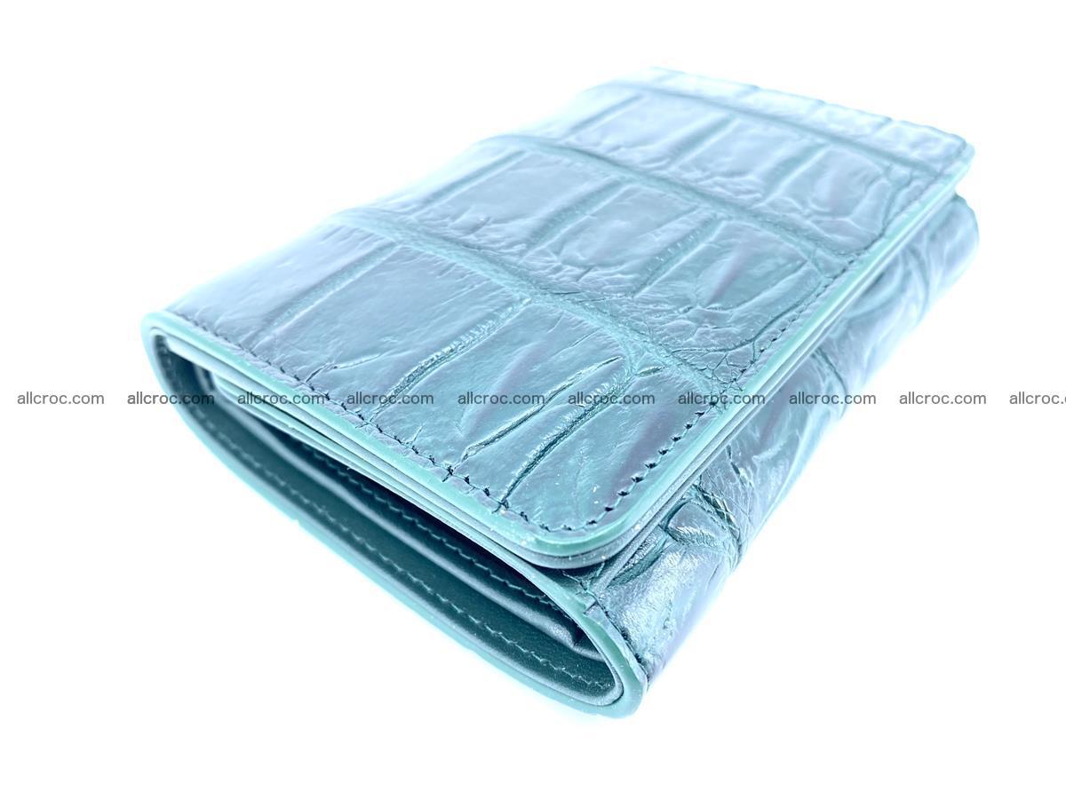 Crocodile leather wallet for women 954 Foto 2