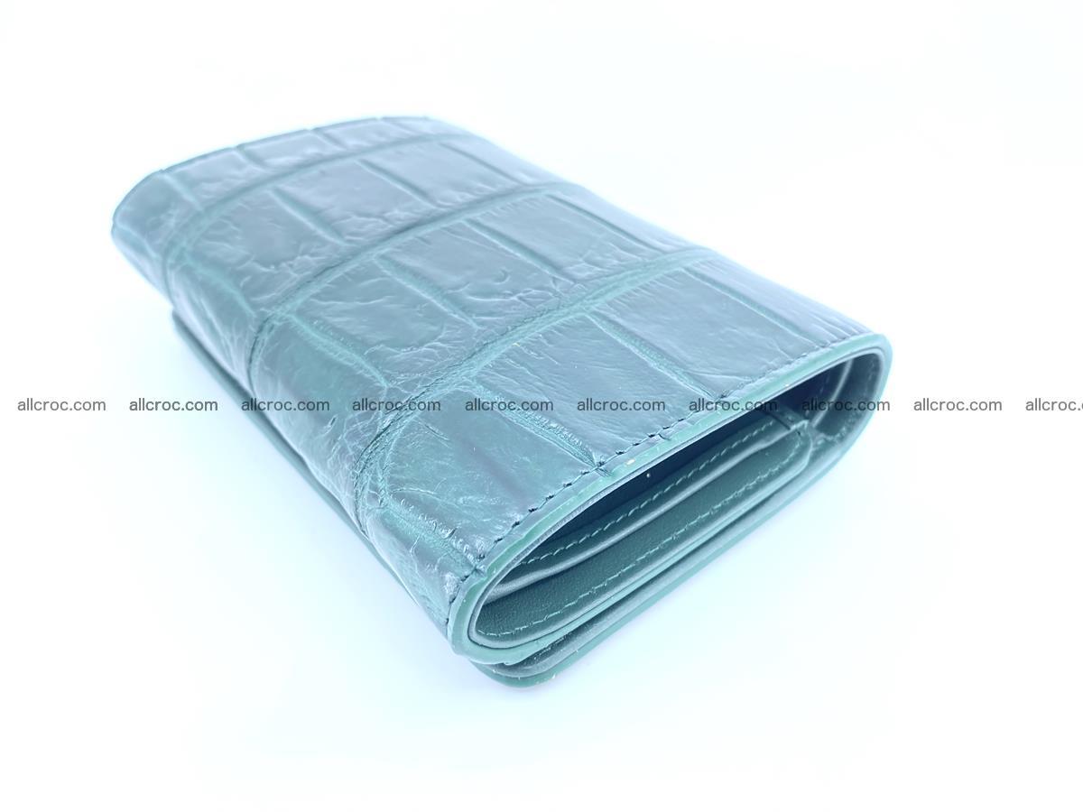 Crocodile leather wallet for women 954 Foto 3