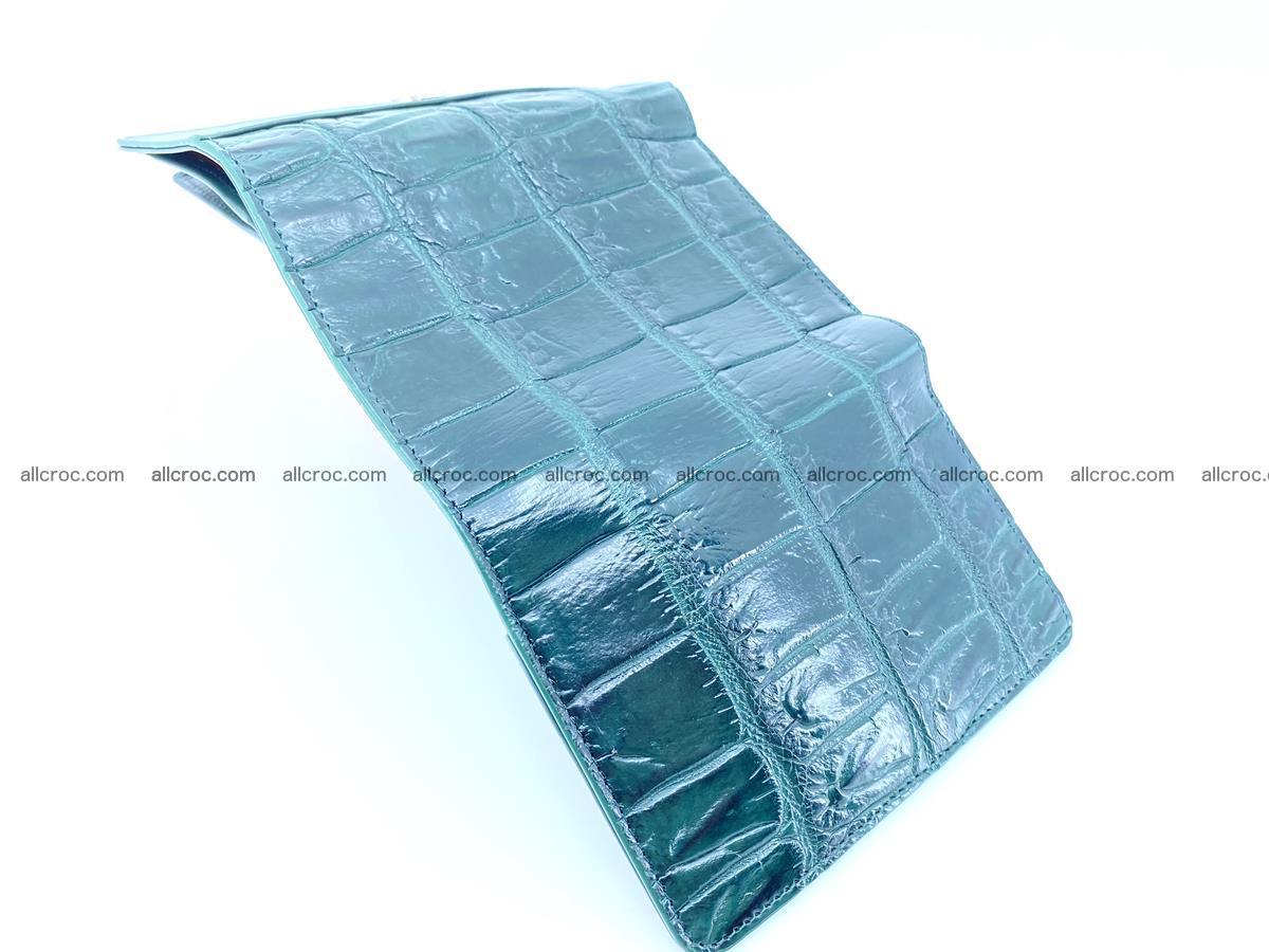 Crocodile leather wallet for women 954 Foto 8