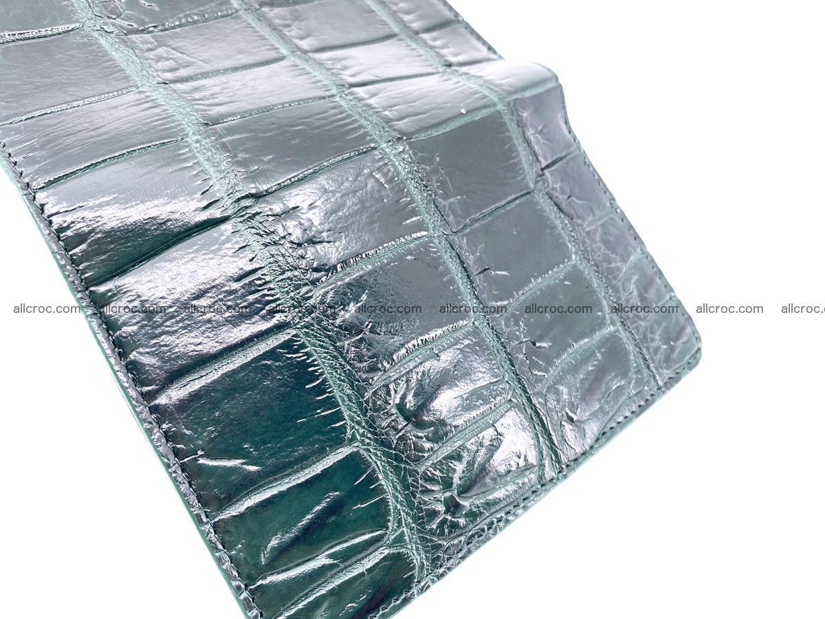 Crocodile leather wallet for women 954 Foto 9