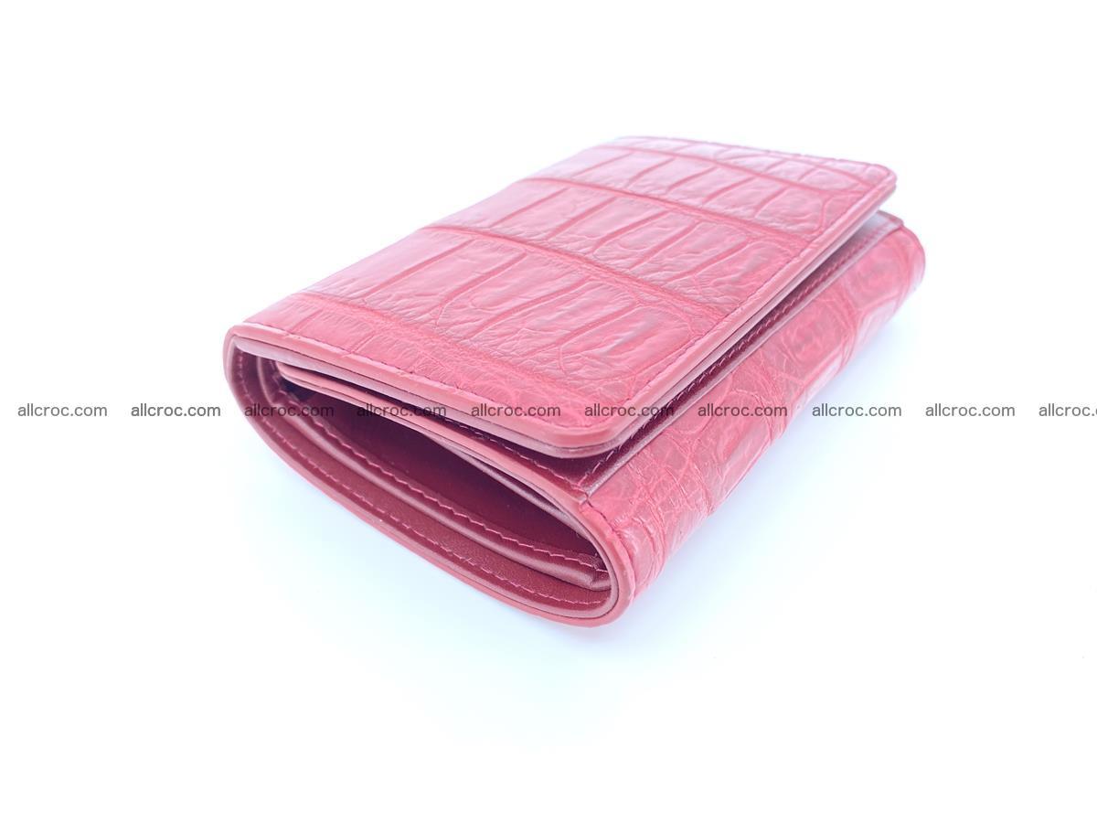 Crocodile leather wallet for women 543 Foto 4
