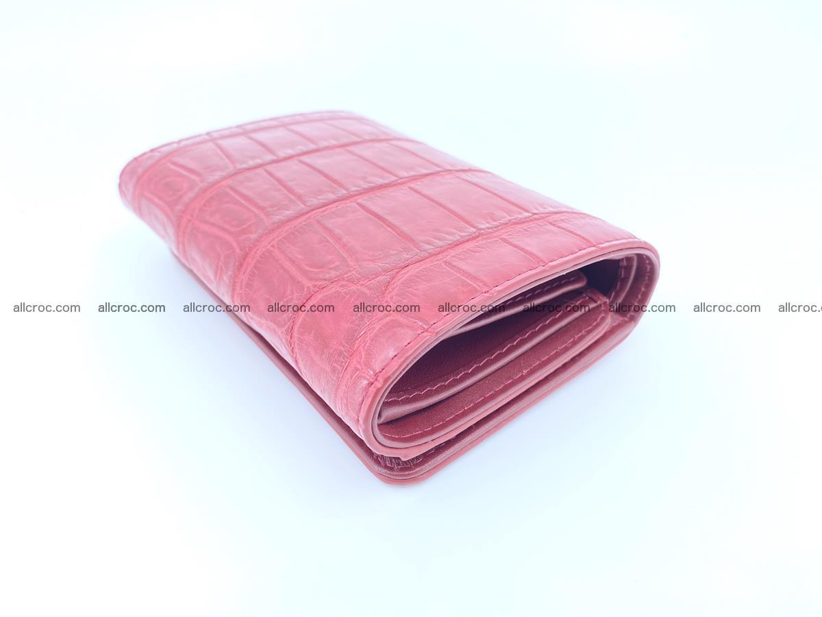 Crocodile leather wallet for women 543 Foto 5