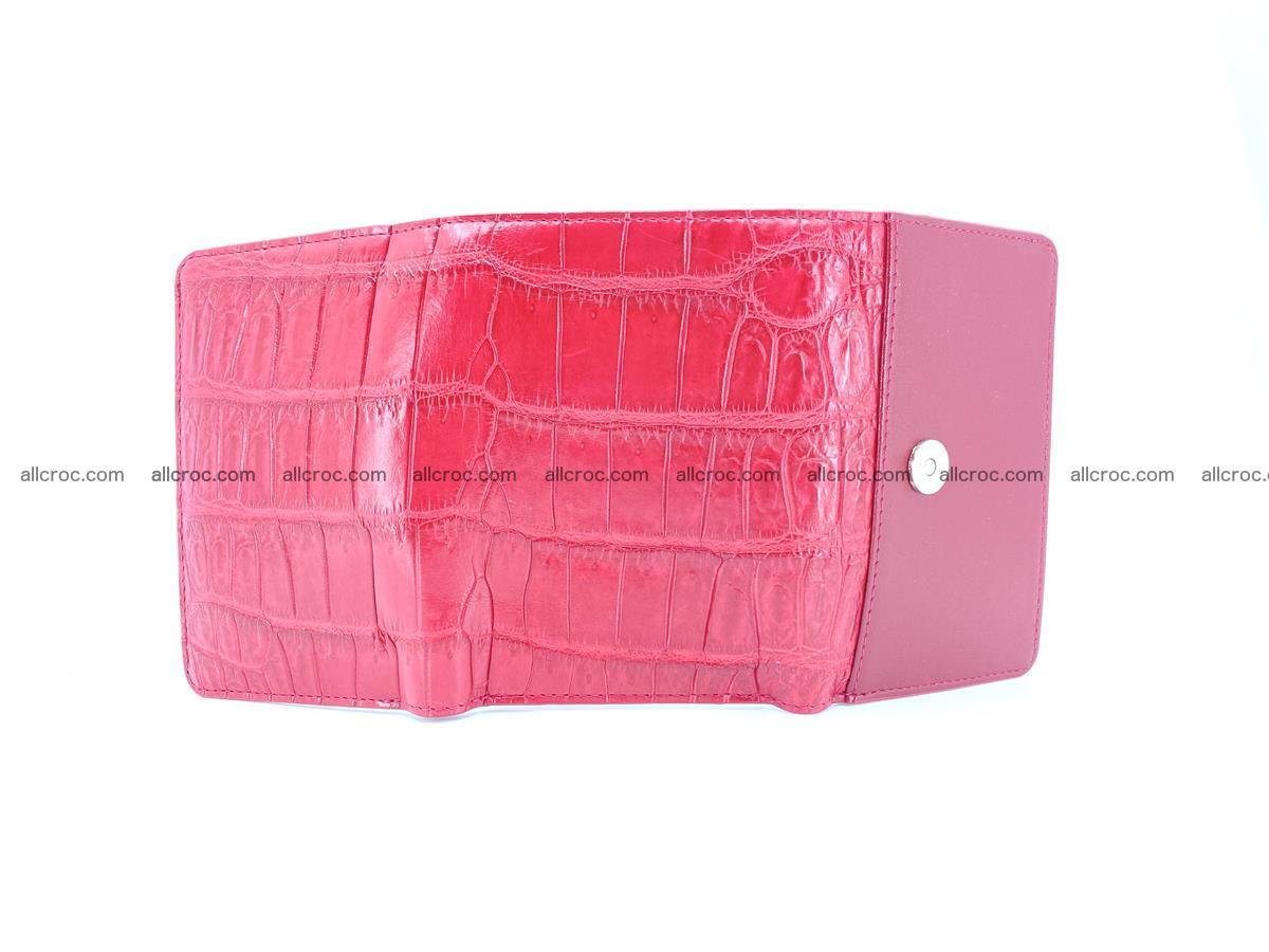 Crocodile leather wallet for women 543 Foto 8