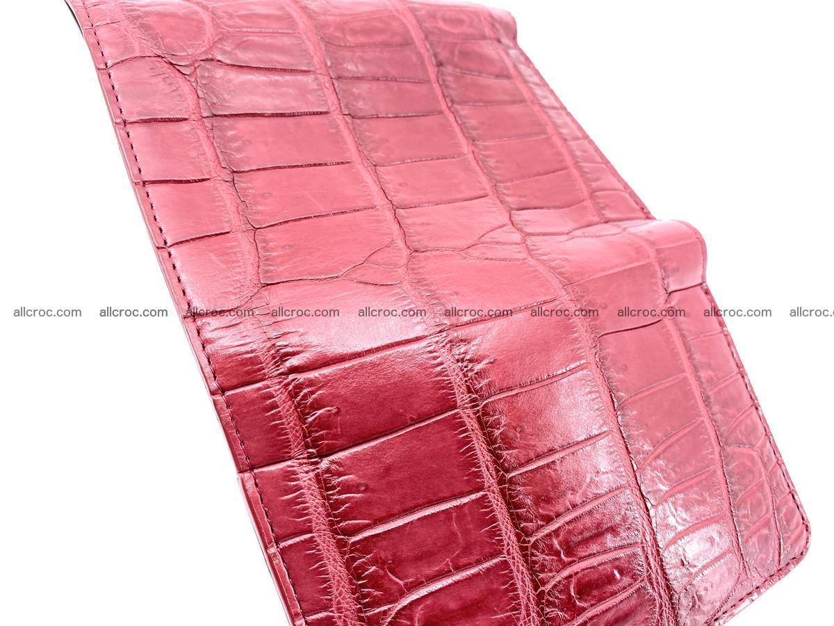 Crocodile leather wallet for women 543 Foto 7
