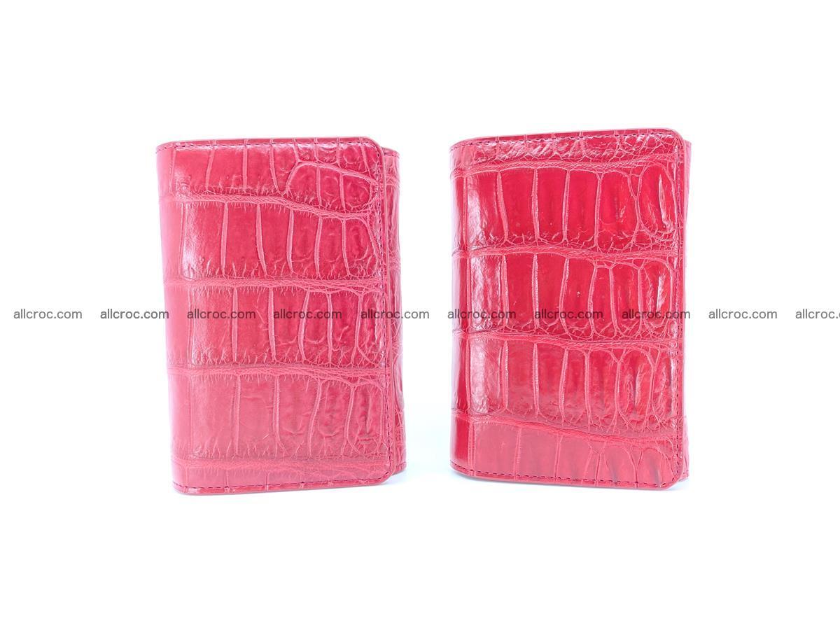 Crocodile leather wallet for women 543 Foto 11