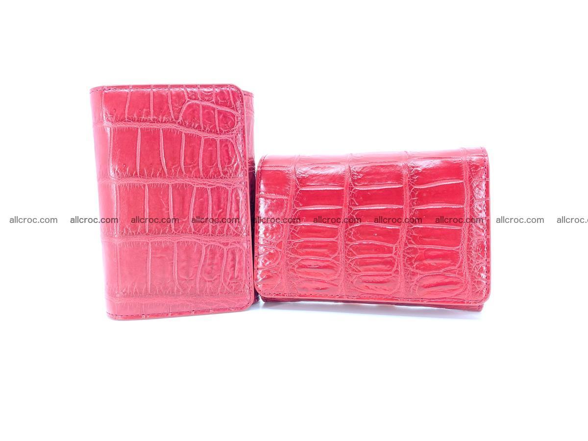 Crocodile leather wallet for women 543 Foto 12