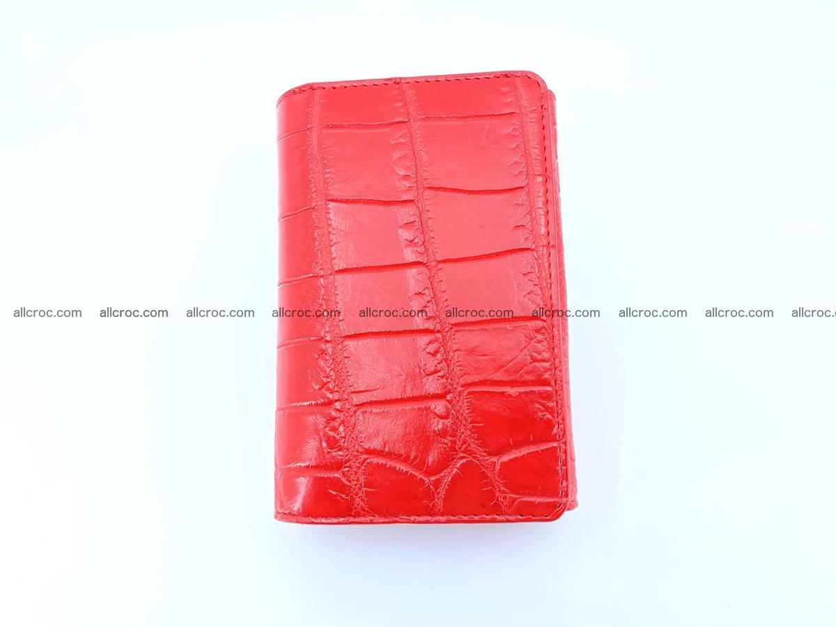 Crocodile leather wallet for women 544 Foto 2