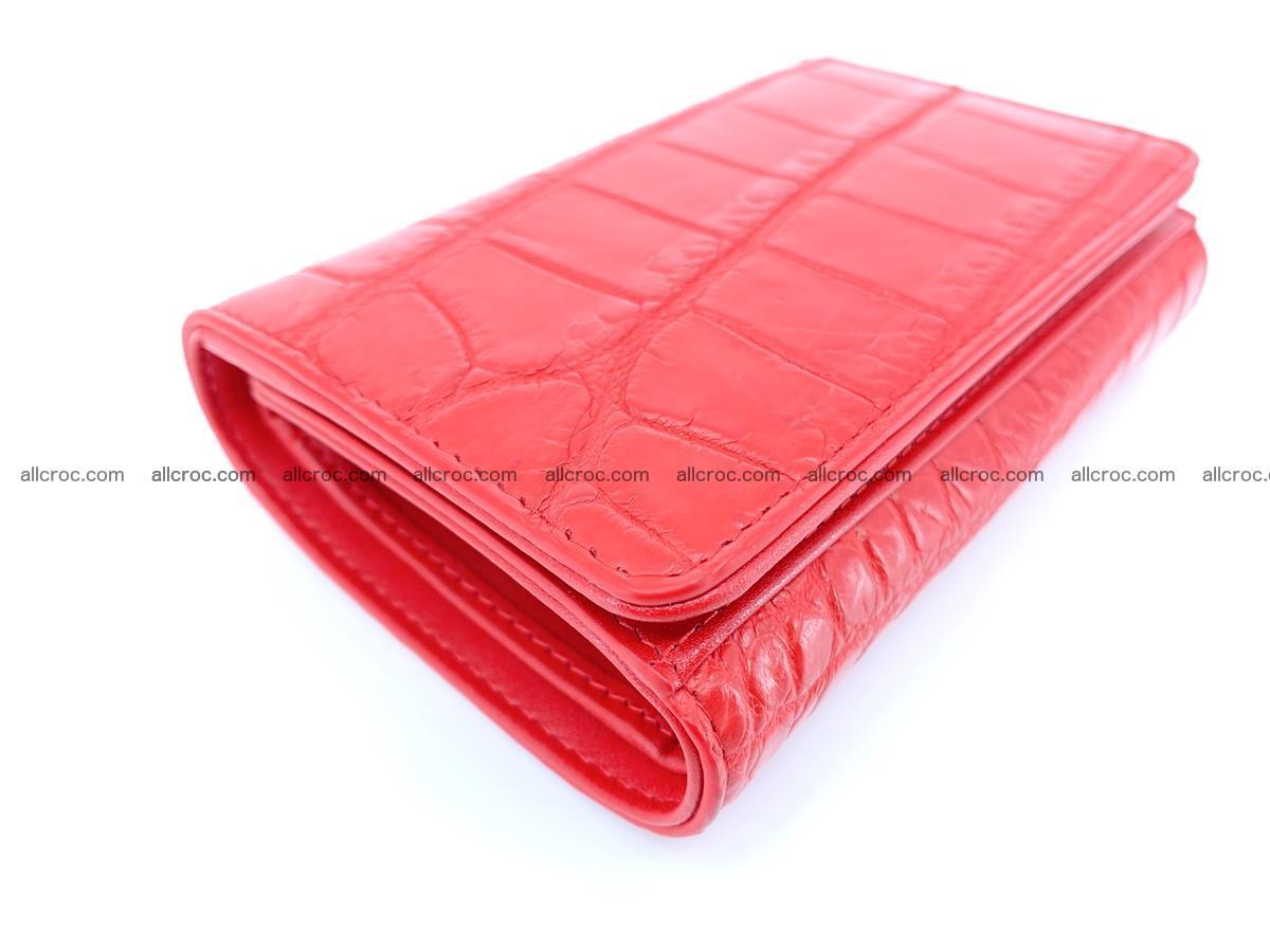 Crocodile leather wallet for women 544 Foto 4