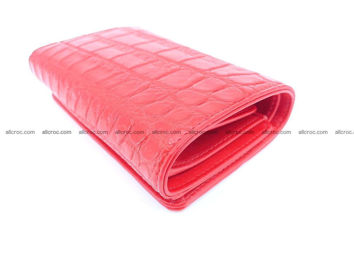 Crocodile leather wallet for women 544 Foto 5
