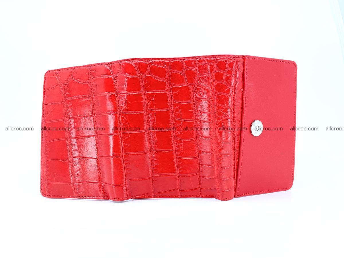 Crocodile leather wallet for women 544 Foto 10