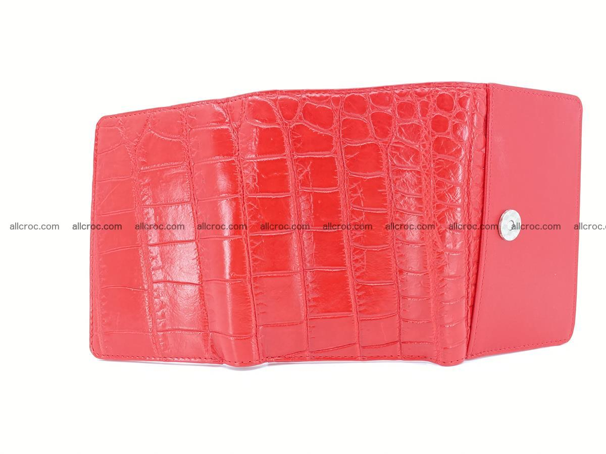Crocodile leather wallet for women 544 Foto 8