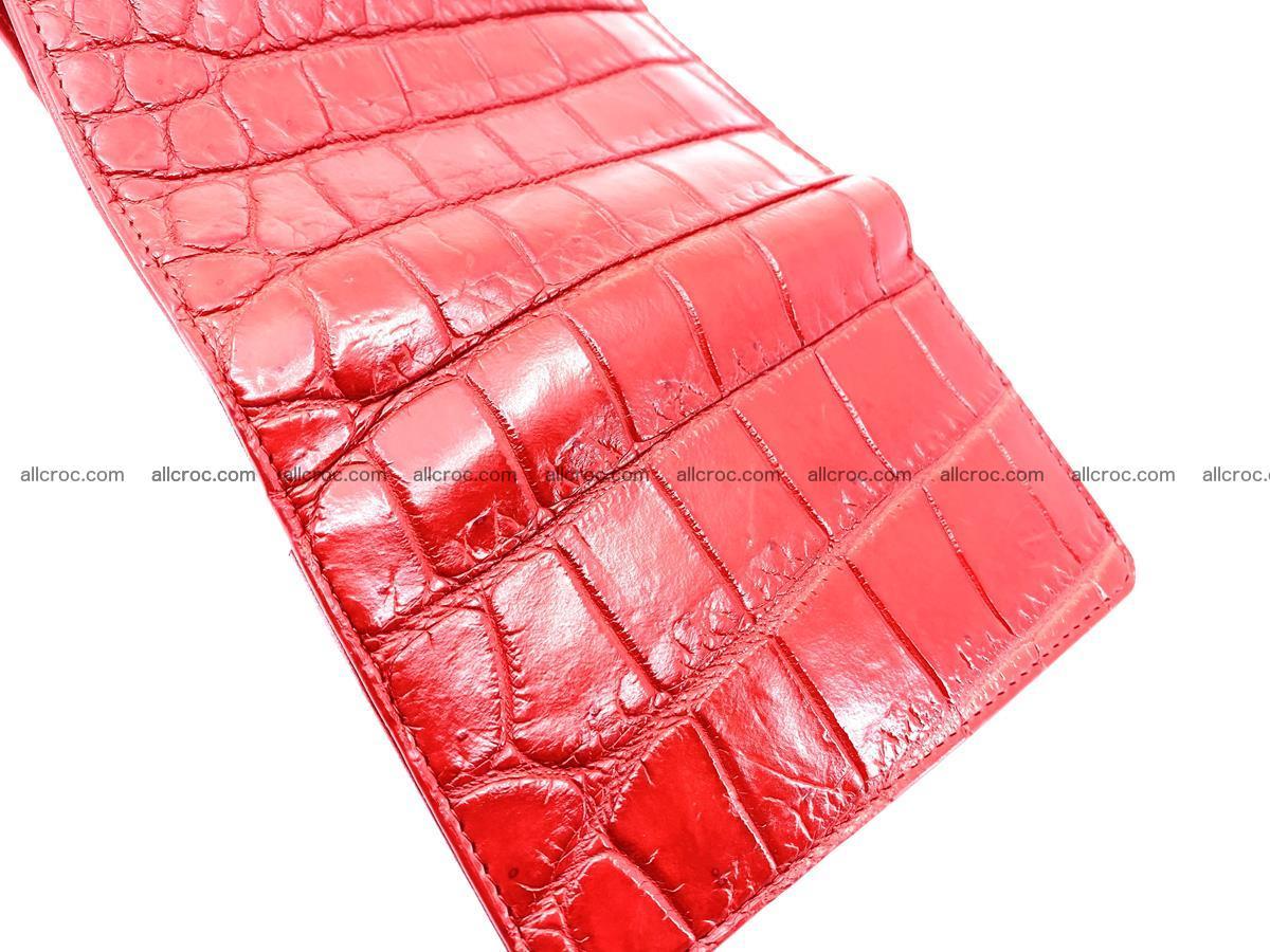 Crocodile leather wallet for women 544 Foto 9