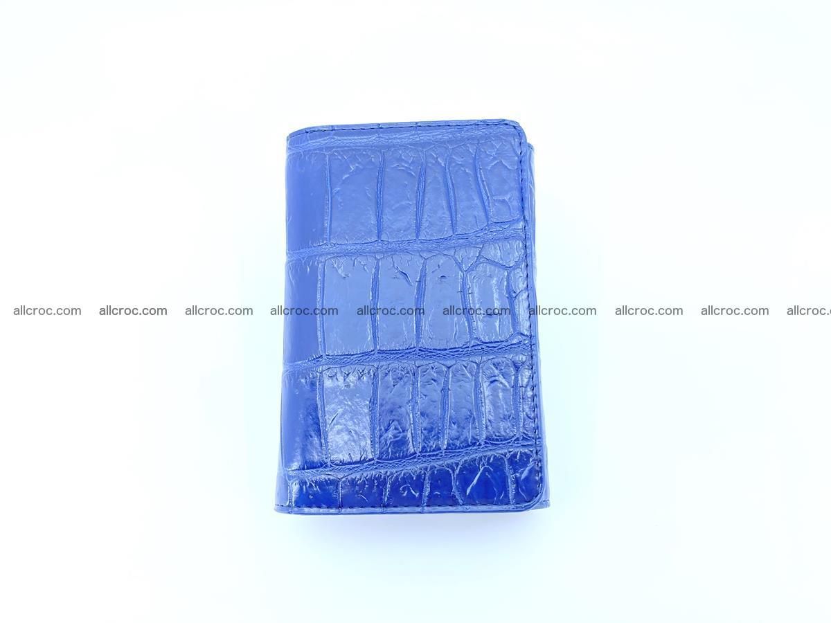 Crocodile leather wallet for women 956 Foto 2