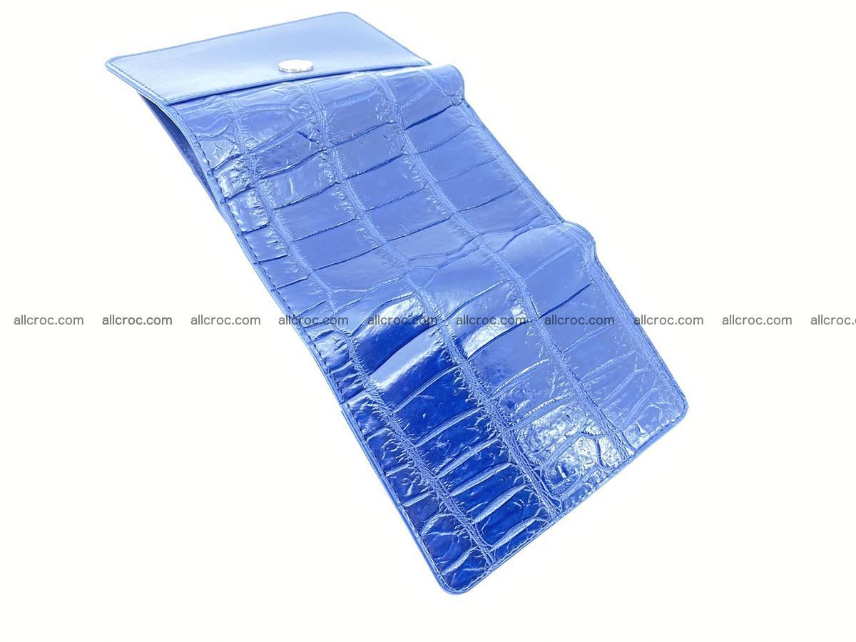 Crocodile leather wallet for women 956 Foto 6