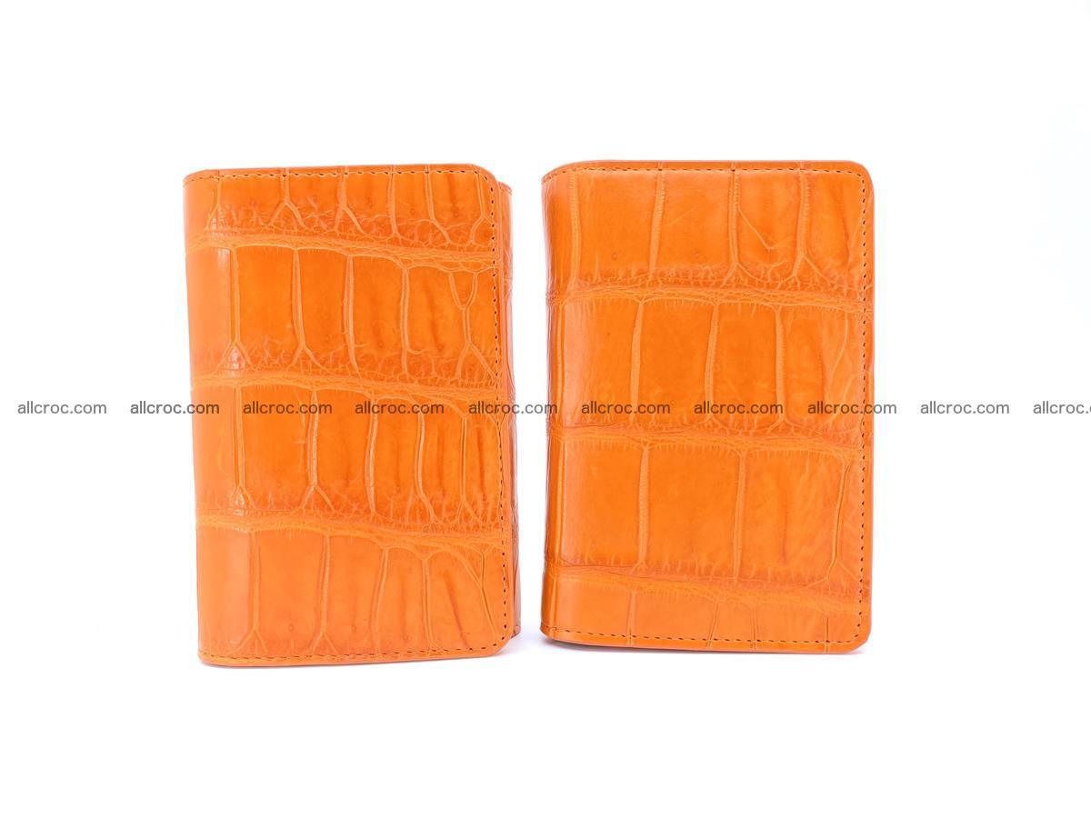 Crocodile leather wallet for women 542 Foto 11