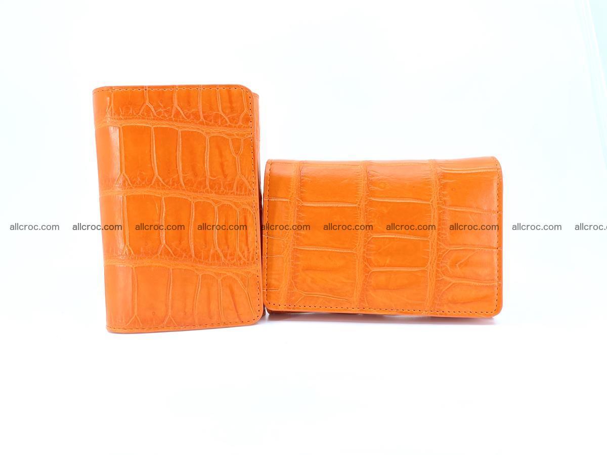 Crocodile leather wallet for women 542 Foto 12