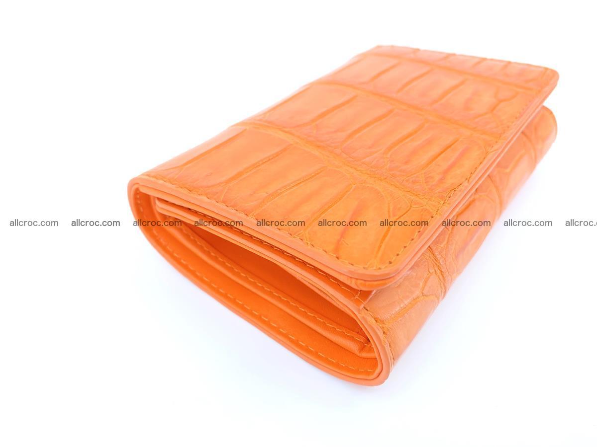 Crocodile leather wallet for women 542 Foto 4