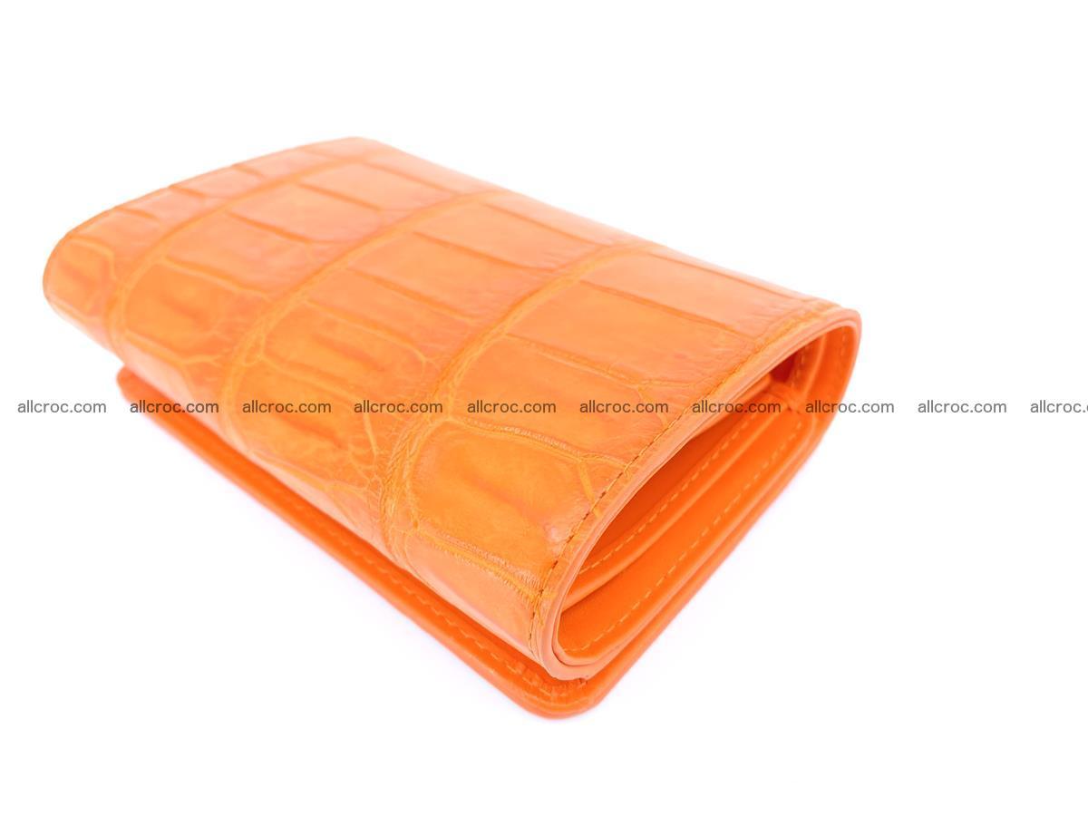 Crocodile leather wallet for women 542 Foto 5