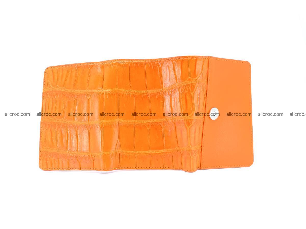 Crocodile leather wallet for women 542 Foto 8