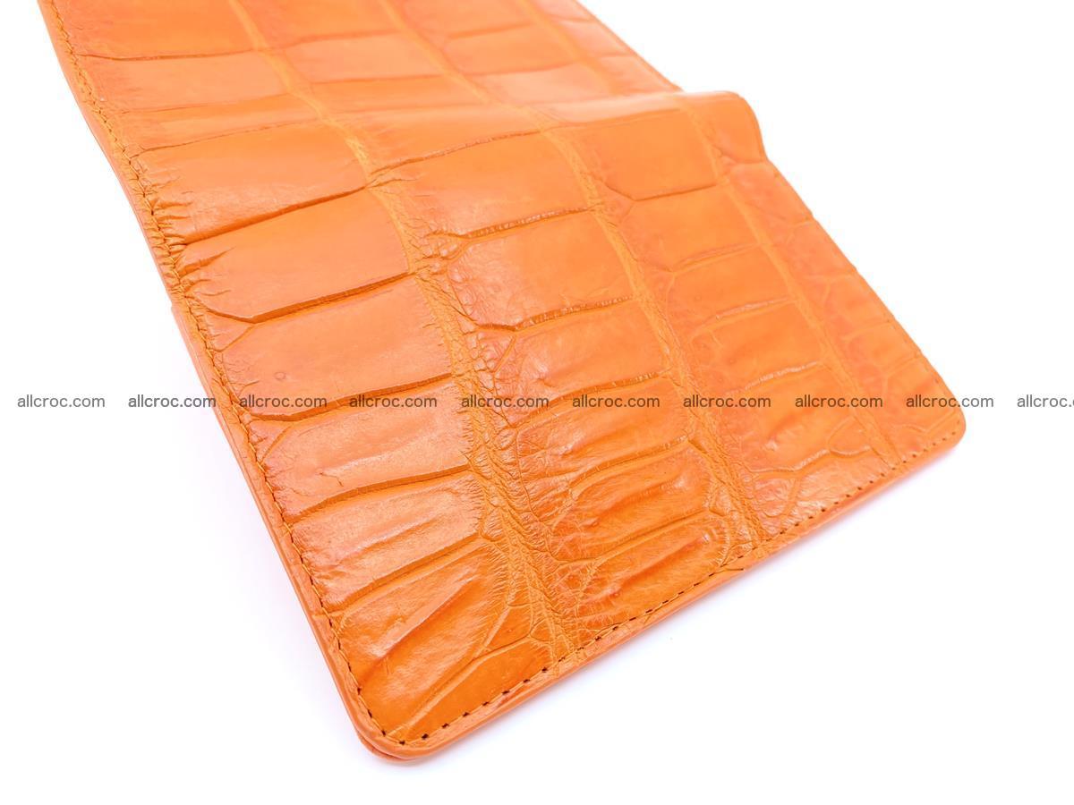 Crocodile leather wallet for women 542 Foto 7